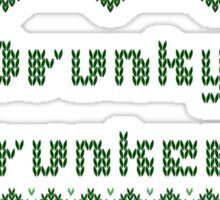 Drunky McDrunkerson Irish Sweater St Patricks Day  Sticker
