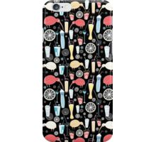 texture with birds cocktails  iPhone Case/Skin