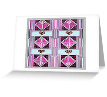 Valentine Heart patchwork gifts Greeting Card