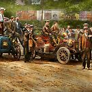 Car - Race - The end of a long journey 1906 by Mike  Savad