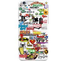 Nerdy Sticker Bomb Phone Case iPhone Case/Skin