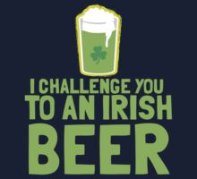 I challenge you to an IRISH BEER green Ireland pint  by jazzydevil
