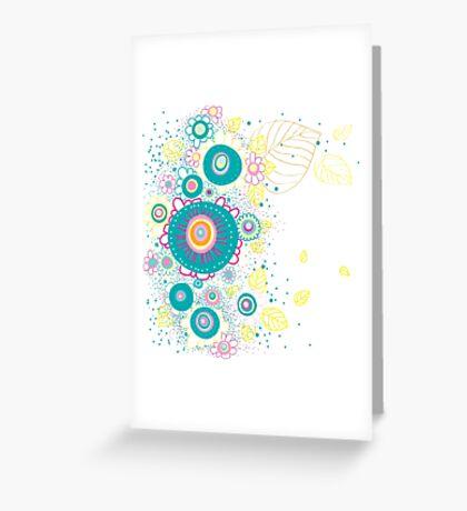 Floral Retro Greeting Card
