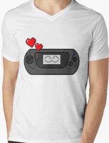 SEGA GAME HAPPY GEAR Mens V-Neck T-Shirt