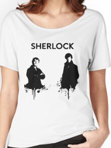 Sherlock in Black and White Women's Relaxed Fit T-Shirt