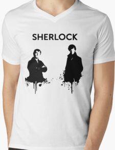 Sherlock in Black and White T-Shirt