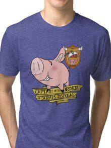 Sir Hawk, Captain of Scraps Disposal Tri-blend T-Shirt
