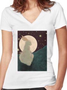Rabbit Women's Fitted V-Neck T-Shirt