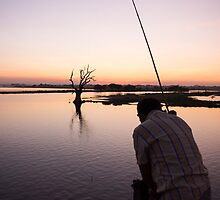 lone fisherman by Anne Scantlebury