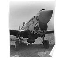 P-40 Warhawk -- World War 2 Poster