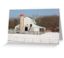 Snowy Barnyard Greeting Card