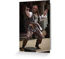 Adventures of Capt. Jack Greeting Card