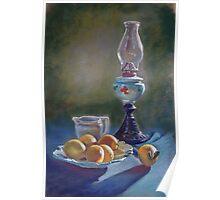 Lamp & Lemons Still Life Poster