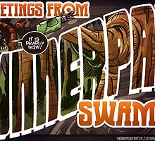 Dinnerpan Swamp Location Postcard by ohthatsean