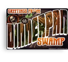 Dinnerpan Swamp Location Postcard Canvas Print