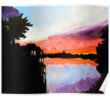 Study of Light at Sunset Poster