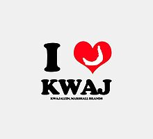 I (HEART) KWAJ (Device Case) by aeng104