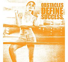 Obstacles Define Success. - Parineeti-Chopra - Gym Inspirational Quotes Photographic Print