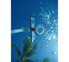 Underwater Hoops View Photographic Print