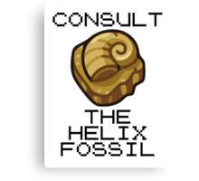 Consult The Almighty Helix Fossil Canvas Print