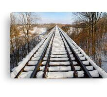 Snowy Railway Trestle Canvas Print