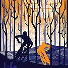 retro mountain bike poster illustration by SFDesignstudio