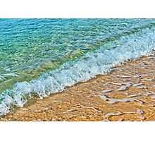 Sandy beach and waves Photographic Print