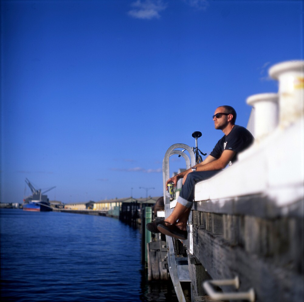 Fremantle Harbour  by barrymansfield