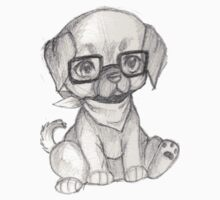 Hipster Puppy by Shiaemi