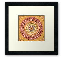 Orange Spice Mandala Framed Print