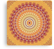 Orange Spice Mandala Canvas Print