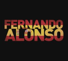 Fernando Alonso - Spanish Flag by FormulaFans