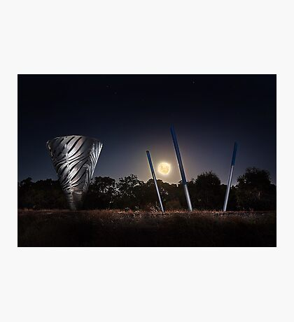 Moonrise Over Water Dance Sculptures  Photographic Print