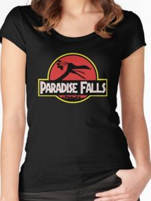 Paradise Falls Women's Fitted Scoop T-Shirt