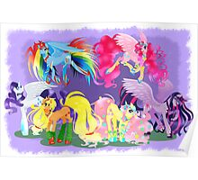 Mane6 alicorn collection Poster
