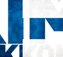 Kimi Raikkonen - Finnish Flag Sticker