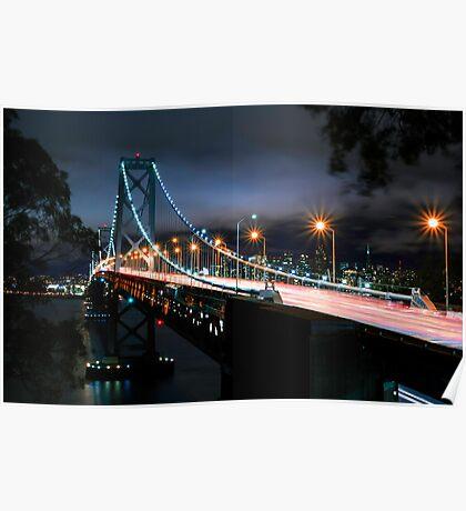 San Francisco- Oakland Bay Bridge Poster