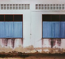 Run-down Facade with Closed Windows by visualspectrum