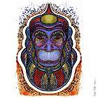 Psychedelic monkey by Milena Taranu
