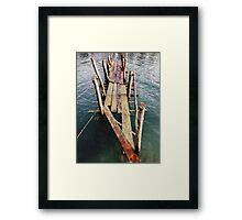 Abandoned Wooden Pier Framed Print
