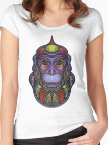 Psychedelic monkey Women's Fitted Scoop T-Shirt