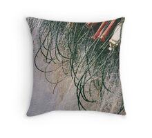 Fishing Net Close-Up Throw Pillow