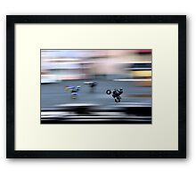 Stunt Cycles Framed Print