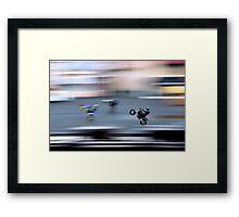 Stunt Cycles Framed Print
