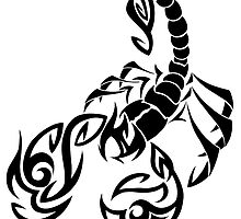 Scorpio Tribal by linamomokoart