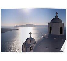 Santorini Domes Poster