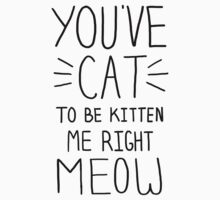 """You've CAT to be KITTEN me right MEOW"" - Slogan T-Shirt T-Shirt"