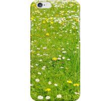 Green grass field iPhone Case/Skin
