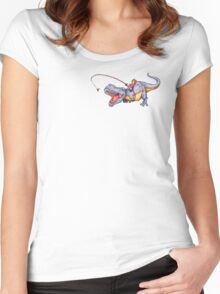 Dino Dash Women's Fitted Scoop T-Shirt