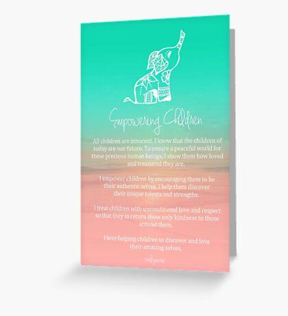 Affirmation - Empowering Children Greeting Card